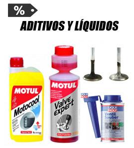 Aditivos, líquido de frenos y refrigerante
