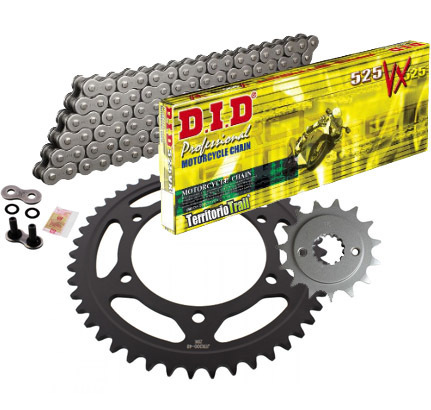 KIT DE TRANSMISIÓN DID X-RING 525VX (15/47/118) | Relación original Transalp 600|
