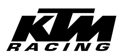 ADHESIVO KTM RACING NEGRO 110x42,5mm