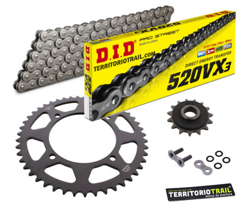 KIT DE ARRASTRE DID 520 VX3 (15/45/110) | Relación original XT660Z 1991 a 1995 |