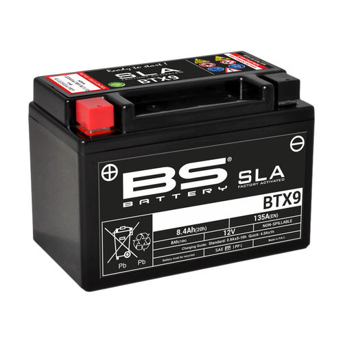 BS BATTERY BTX9 SLA 12V ÁCIDO
