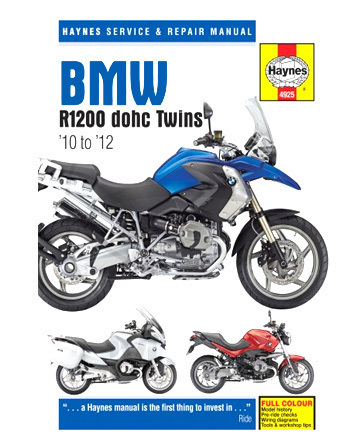 MANUAL DETALLADO DE REPARACIÓN BMW R1200GS 2010-2012 (EN INGLES)