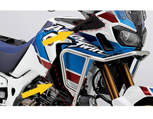KIT DEFLECTORES DE AIRE PARA CRF 1000 AFRICA TWIN ADVENTURE SPORTS