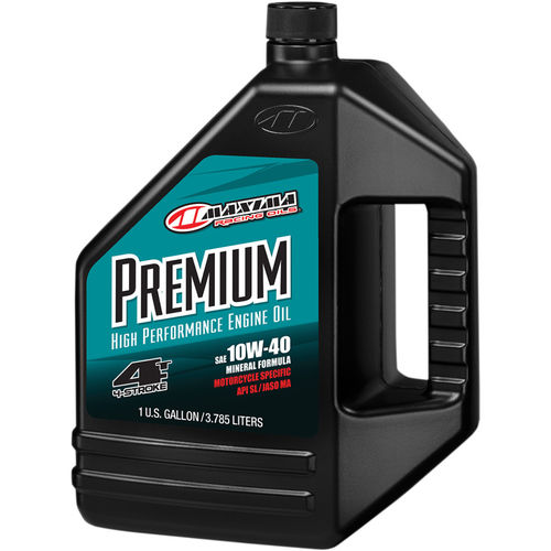 ACEITE MOTOR 4T. MAXIMA RACING 10W40 MINERAL. 3,7 LITROS