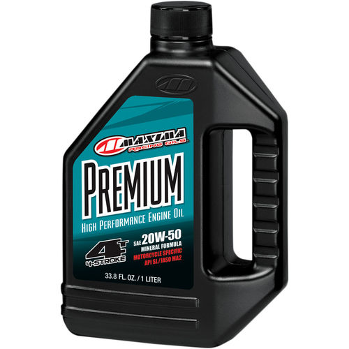 ACEITE MOTOR 4T. MAXIMA RACING 20W50 MINERAL. 1LITRO