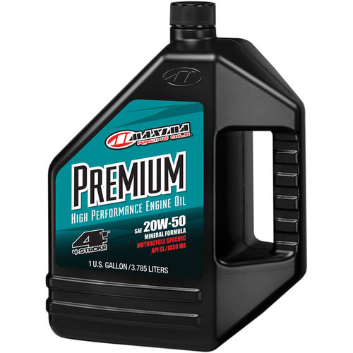 ACEITE MOTOR 4T. MAXIMA RACING 20W50 MINERAL. 3,7 LITROS